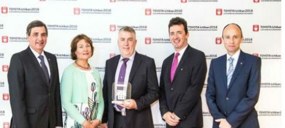 "Grange Motors Mullingar winners of ""TOYOTA ICHIBAN 2016"" Customer Recommendation Award"