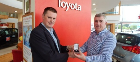 Toyota Customer Service Award for Grange Motors (Mullingar)